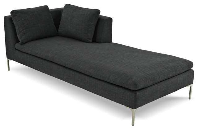 Chaise Lounge Dark Grey L Modern Indoor Chaise Lounge Chairs