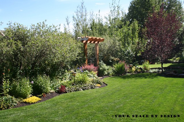 Border bed with arbour landscape calgary by your for Landscape design calgary