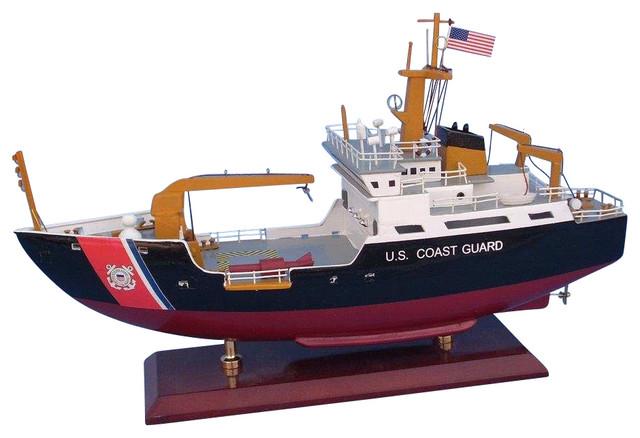 uscg buoy tender 16 quot wood coast guard model boat