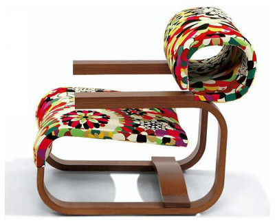 Daniela Chair in Dark Missoni Home - eclectic armchairs