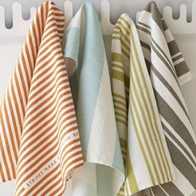 Just Stripes Tea Towel contemporary-tablecloths