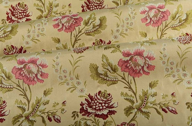 english garden floral upholstery fabric in spring