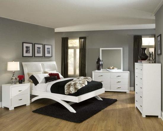 Bedrooms Furniture - Astrid White Master Bedroom Set