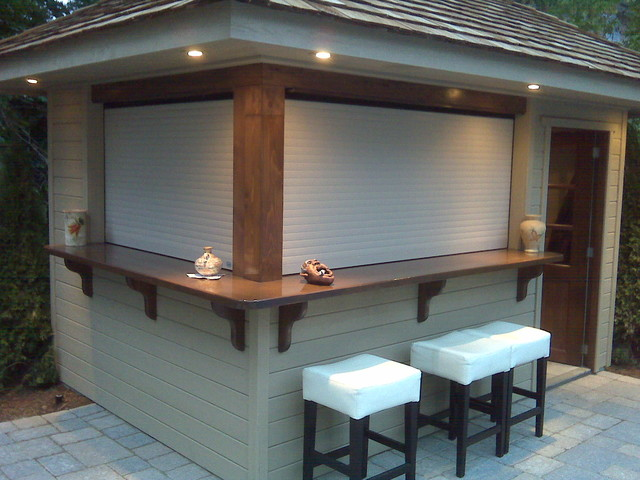 Shutters on Outdoors Bar - Contemporary - Roller Shades - jacksonville - by Talius