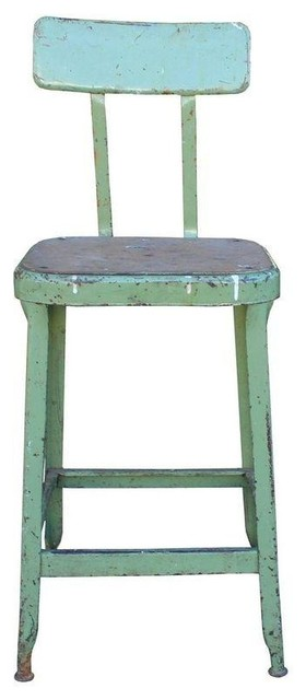 Pre-owned Vintage Industrial Green Stool industrial-bar-stools-and-counter-stools
