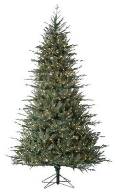 7.5 ft. Natural Cut Layered Wyoming Spruce modern-holiday-decorations