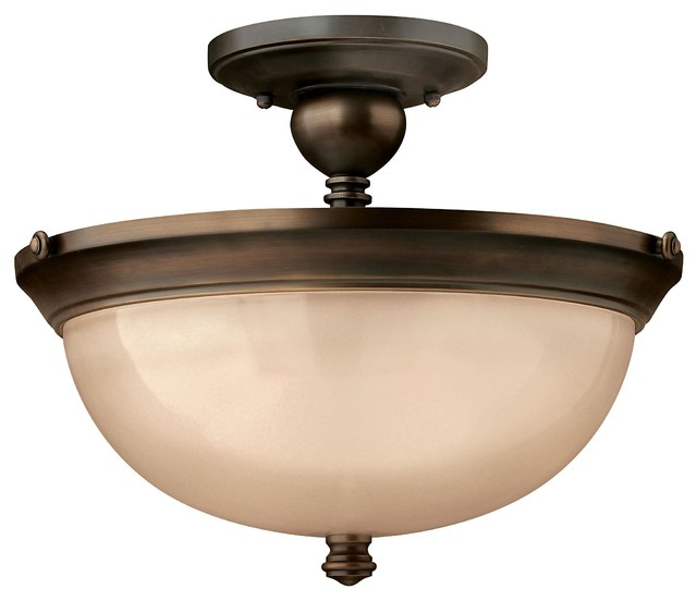 hinkley lighting 4161ob olde bronze 3 light indoor semi