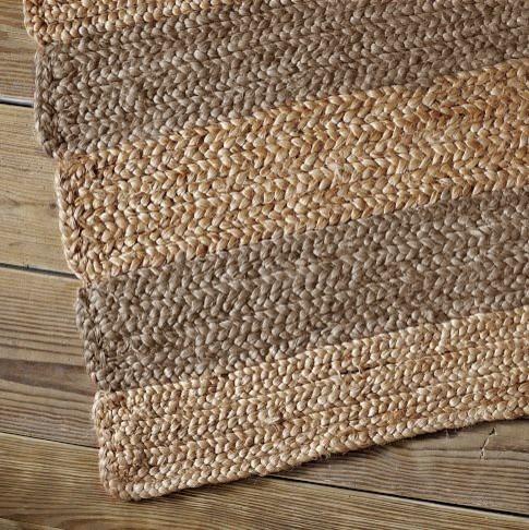 Jumbo Stripe Jute Rug Traditional Rugs By West Elm