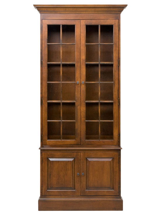 Ethan Allen - Villa Single Library Bookcase - Our Villa single bookcase mixes classic styling with functionality and versatility. Coordinating with any of our decorative motifs, it has a low-waisted profile, maximizing the amount of area to display favorite books and collectibles. Plus, there's handy storage below.