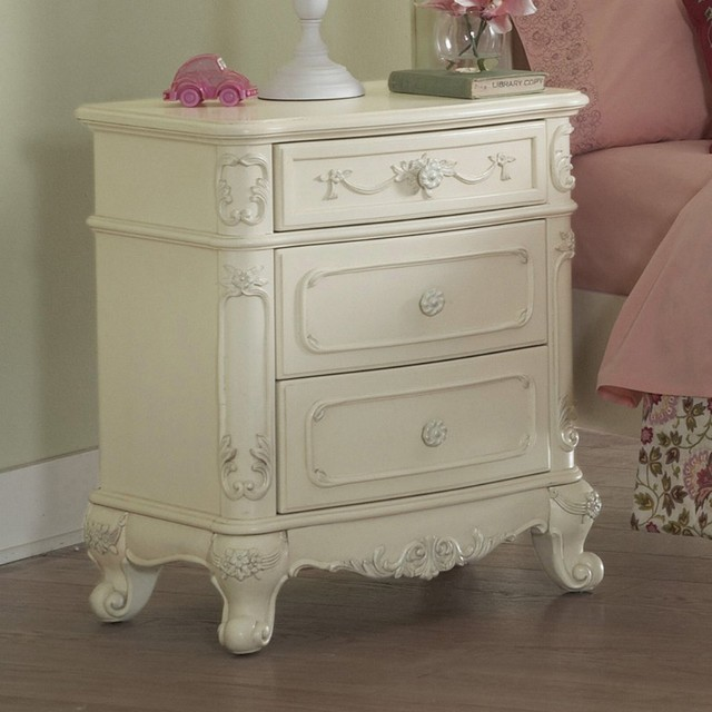Ella 3 Drawer Nightstand traditional-nightstands-and-bedside-tables