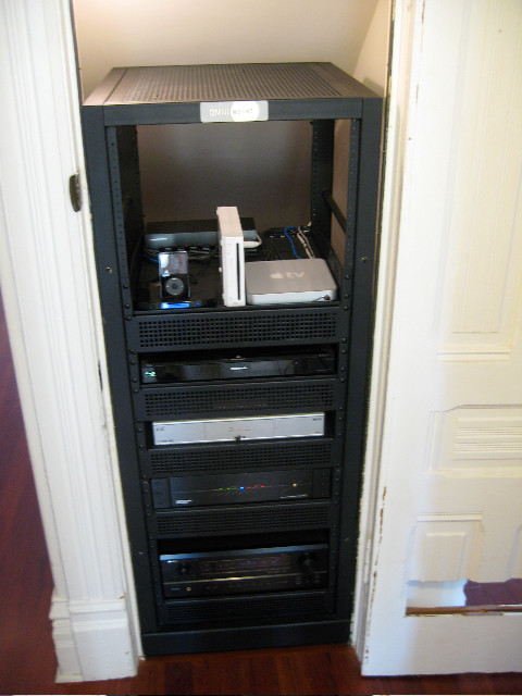Av Rack Under Staircase Traditional San Francisco By