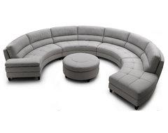 Pavoncello Rotunda, 3-Piece Round Sectional contemporary-sectional-sofas