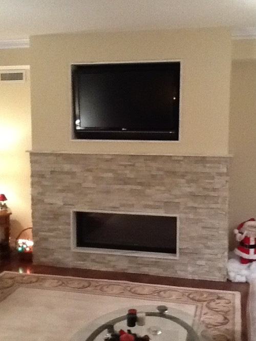 Which wall s for accent wall for Fireplace half stone