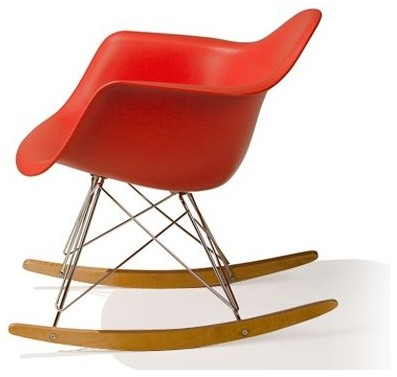 Eames Molded Plastic Armchair with Rocker Base modern rocking chairs