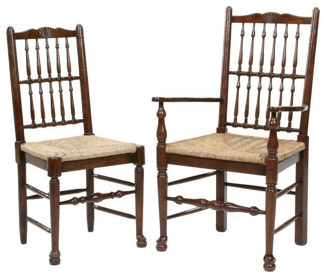 Antique Style Spindle Back Dining Chair Traditional Dining Chairs Other