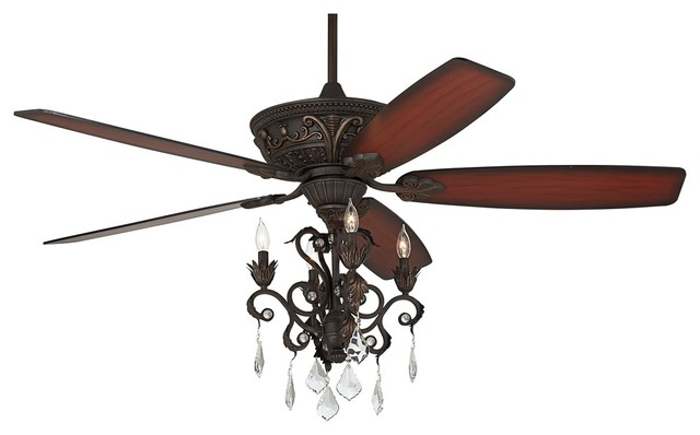 60 quot casa montego bronze chandelier ceiling fan traditional ceiling