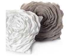 Glamorous Natural Floret Pillow contemporary pillows