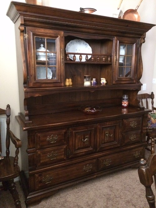 Refinishing dining room furniture rest of the home is oak for Refinishing dining room chairs