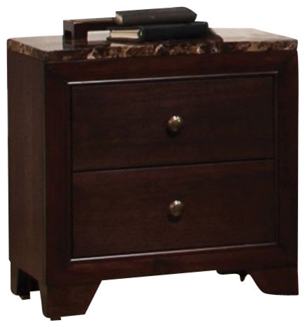 Night Stand (Dark Walnut) By Coaster contemporary-nightstands-and-bedside-tables