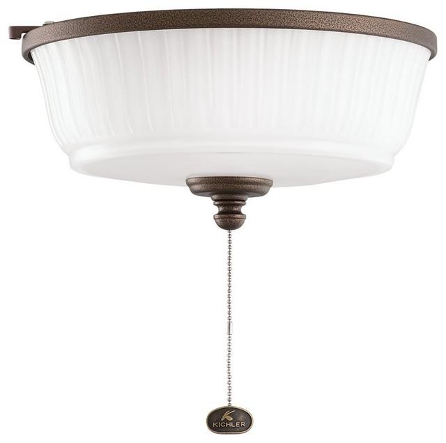 DECORATIVE FANS Weathered Copper Ceiling Fan Light Kit X