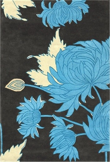 Amy Butler Hand Tufted Wool Rug Chrysanthemum eclectic-rugs