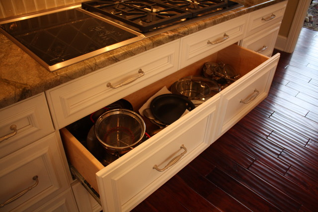 Deep Kitchen Storage Drawer Traditional Kitchen