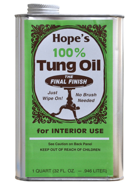 The Hope Company - The Hope Company Pure 100% Tung Oil-32 oz - For a Hand Rubbed Low Gloss Finish: