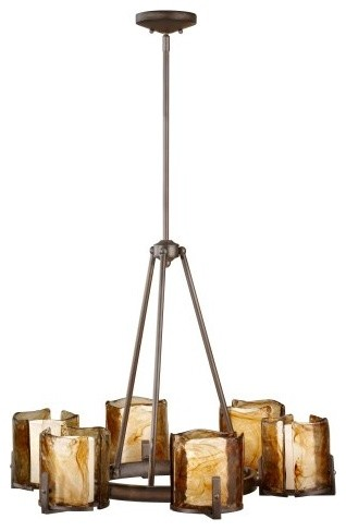 Murray Feiss F2688 Aris 6-Light Single Tier Chandelier contemporary-chandeliers