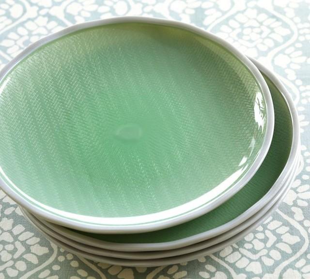 Sea Glass Outdoor Salad Plates contemporary-plates