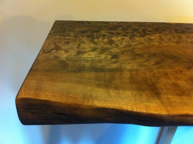 Live edge reclaimed wood countertops modern kitchen for Reclaimed wood flooring seattle