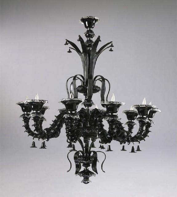 Cyan Venetn Noir 10-Light Chandelier-Black traditional-chandeliers