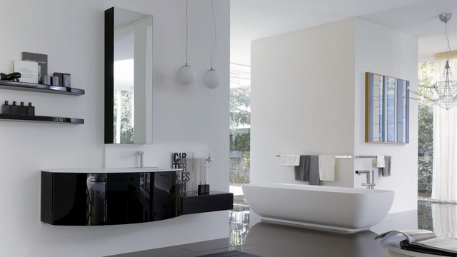 Symi Collection modern bathroom vanities and sink consoles