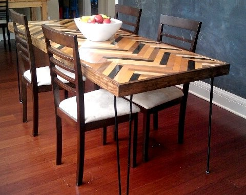Herringbone Table contemporary-dining-tables