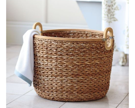 Serena & Lily - Seagrass Basket - What we love most about this this basket are the refined details&#151a smooth wood rim and galvanized metal accents give it a polished, substantial look look we love. The open style makes this a natural catch-all for towels, toys and magazines. In other words, you can't have too many on hand.