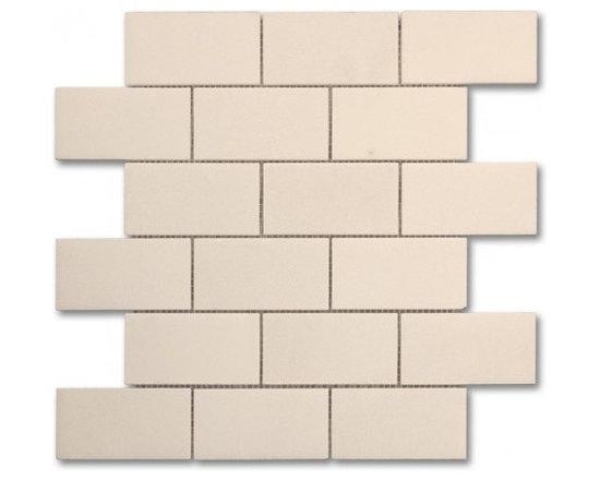 White thassos polished 2x4 Brick pattern stone mosaic - 2x4 stone brick pattern mosaic