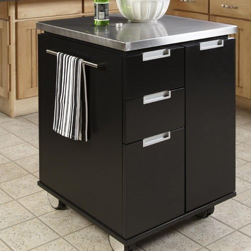 Stainless Kitchen Cart: Kitchen Cart With Stainless Steel Top