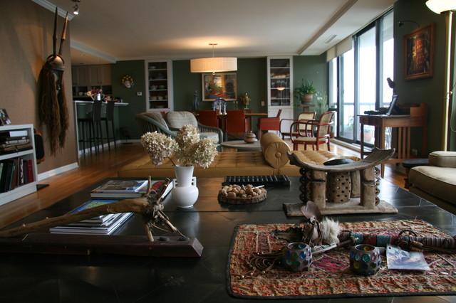Lincoln Park Eclectic Ménagère contemporary-living-room