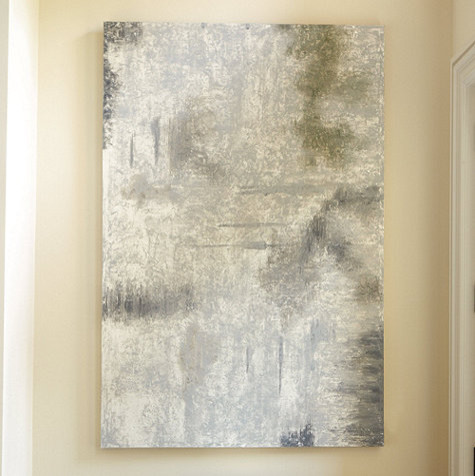 Gray Haze Hand Painted Print contemporary-prints-and-posters