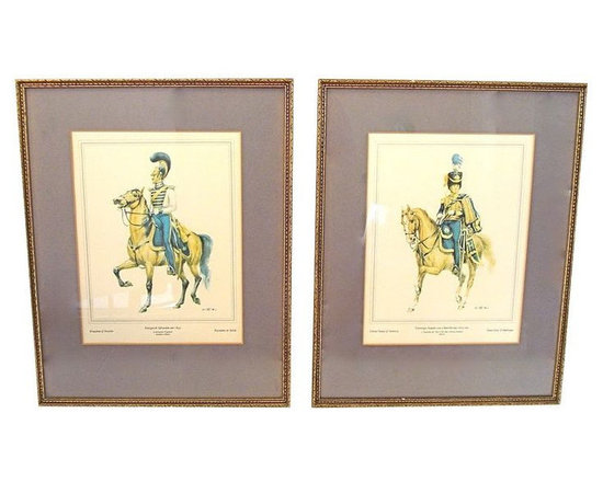 Stately Pair of Military Engravings - $800 Est. Retail - $200 on Chairish.com -