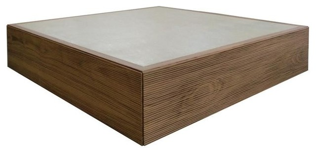 Tao Square Coffee Table, Walnut contemporary-coffee-tables