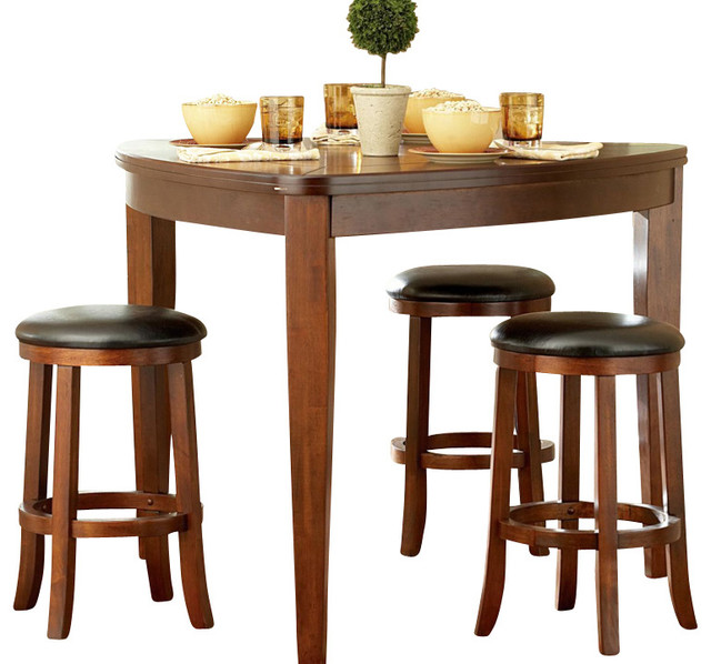 Homelegance ameillia 5 piece triangle counter height table set traditional dining sets by - Triangle kitchen table set ...