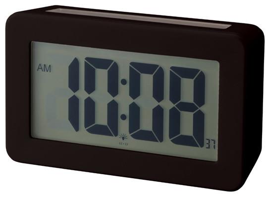Solar Power Digital Clock, Black - Contemporary - Clocks - by neo-utility