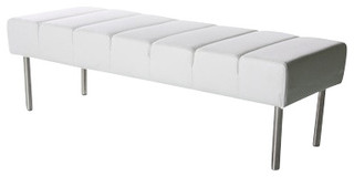 bench 2 seat white contemporary bedroom benches by contemporary