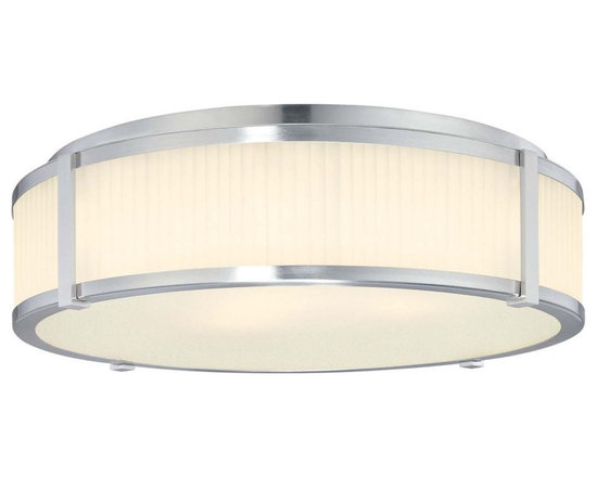 """Sonneman - Sonneman Roxy 16"""" Wide Surface Ceiling Light Fixture - The textured glass is mesmerizing and matched with slender metallic details. This Sonneman light fixture has a clean and refined look. Design by Robert Sonneman. Satin nickel finish. Etched fluted glass. Flushmount style. Takes three 60 watt medium base bulbs (not included). 6 1/2"""" high. 16 1/2"""" diameter. Canopy has 14 1/2"""" diameter.  Satin nickel finish.  Etched fluted glass.  Flushmount style.  Design by Robert Sonneman.   Takes three 60 watt medium base bulbs (not included).  6 1/2"""" high.  16 1/2"""" diameter.  Canopy has 14 1/2"""" diameter."""