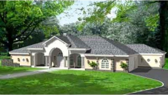House Plan 1-925 traditional-rendering