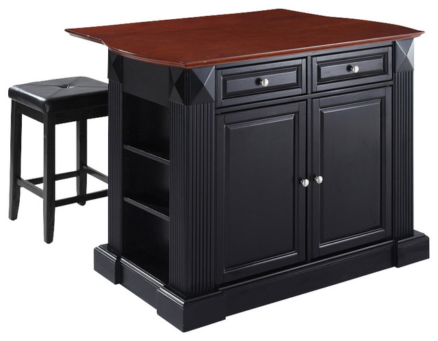 Top Kitchen Island With Square Seat Stools Traditional Kitchen Islands And Kitchen Carts
