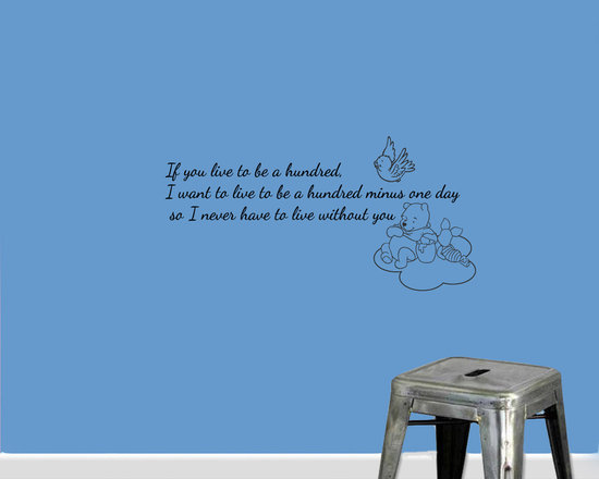 Vinyl Decals Winnie the Pooh Quote Live Hundred Years Home Wall Art Decor Remova -
