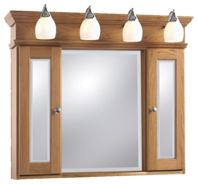 ... Aurora Mirrored Medicine Cabinet with Lights modern-medicine-cabinets