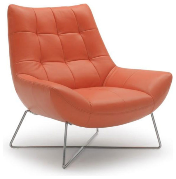 MODERN ORANGE LOUNGE CHAIR Modern Armchairs And Accent Chairs san franc