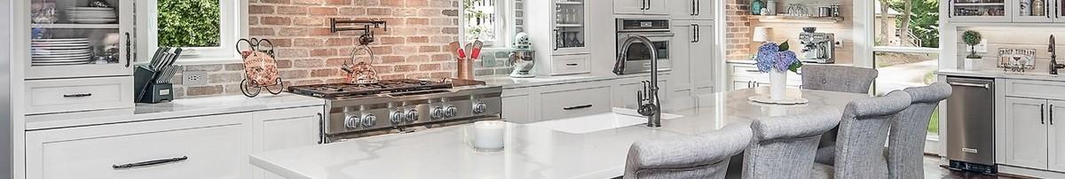 Coastal White French Country Kitchen